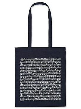 Illustration sac-partition bleu motif partition