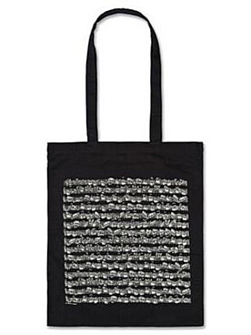 Illustration sac-partition noir motif partition