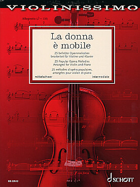 Illustration la donna e mobile 25 melodies d'opera