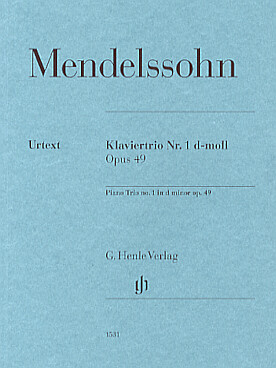 Illustration mendelssohn trio avec piano n° 1 op. 49